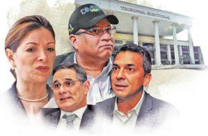Ana Matilde Gómez, Dimitri Flores y Marco Ameglio dominan en cantidad de firmas. Foto: Infografía Panamá América