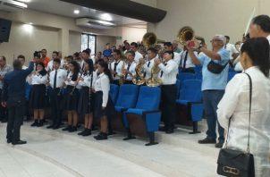 Banda musical del Instituto Profesional y Técnico Arnulfo Arias Madrid. Foto: José Vásquez.