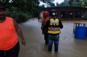 Las lluvias provocaron inundaciones en varias residencias del área norte del país.
