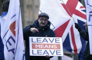 """Existe cierto grado de división entre la población por el """"Brexit"""". FOTO/AP"""