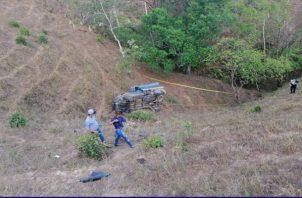 Es el tercer muerto por accidente de tránsito en el área de Macaracas, luego que dos personas fallecieron en el área de Los Bajitos. Foto/Thays Domínguez