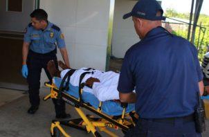 Uno de los pecadores rescatados en Los Santos en busca de atención médica.