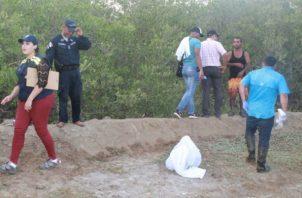 El macabro hallazgo fue en la playa La Colorada. Foto: Thays Domínguez.