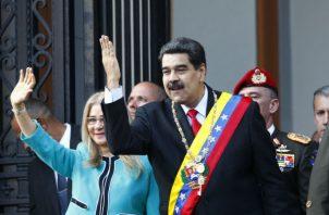 """""""La furia bolivariana está lista para la batalla"""", afirmó Maduro. Foto: AP."""