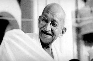 Mahatma Gandhi, reconocido líder y héroe por la libertad de su pueblo, India. Foto: EFE.
