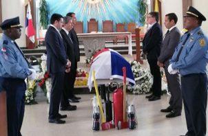 Bomberos de Panamá despiden a su compañero Manuel Naar. Foto/Cortesía