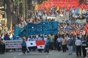 Docentes anuncian paro nacional a partir del este viernes y una marcha hacia la presidencia. Foto: Archivo Epasa.