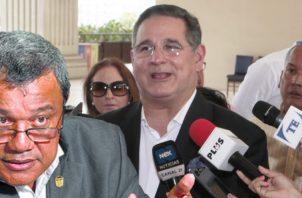 Marco Ameglio convocó ayer a rueda de prensa en la que arremetió contra Peñaloza. Víctor Arosemena