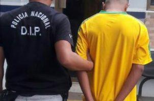 El hombre se dio a la fuga pero fue capturado por la Policía Nacional. Foto/Mayra Madrid