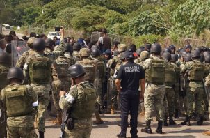 Las autoridades mexicanas han reforzado el área fronteriza con Estados Unidos. FOTO/EFE
