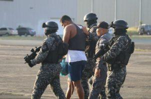 """Eduardo Macea Alonzo, alias """"Marshall"""" permanece detenido en la cárcel de Punta Coco. Foto: Policía Nacional."""