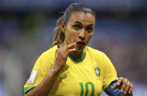 Marta ha sido varias veces escogida como la mejor jugadora de fútbol del mundo. Foto AP