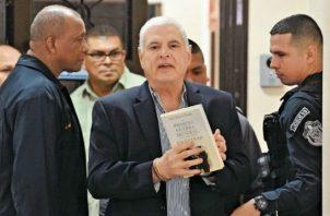 El expresidente Ricardo Martinelli  está incapacitado hasta el próximo 31 de marzo.