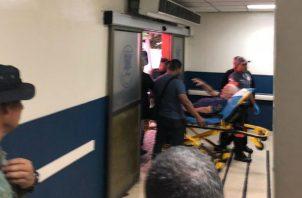 El expresidente permanece en la sección Coronaria del hospital Santo Tomás. Foto: Panamá América.