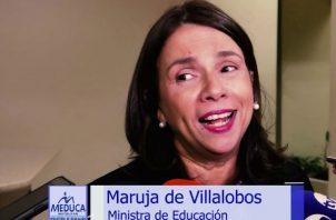 La ministra de Educación, Maruja Gorday de Villalobos manifestó que con esta línea de apoyo se busca brindarle ayuda a los jóvenes.