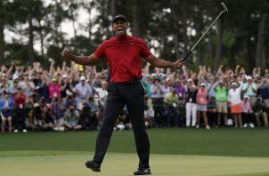 Tiger volvió a celebrar.