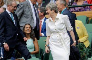 La primera ministra británica, Theresa May, crítico los comentarios  sexistas del mandatario norteamericano. FOTO/AP