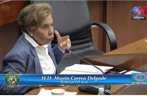 Mayín Correa es diputada a sus 83 años de edad.
