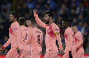 Messi otra vez presente en el gol del Barcelona. Foto AP