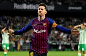 Messi fue el mejor del partido.