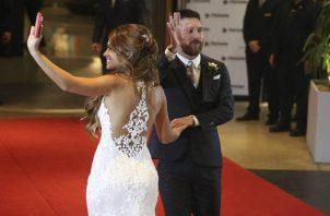 Messi y Antonela el día de su boda.