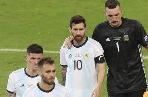 Messi marcó de penal el miércoles.