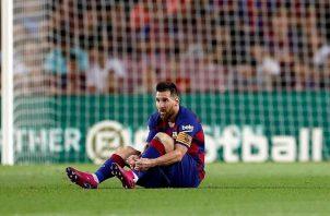 Lionel Messi venía de una lesión.