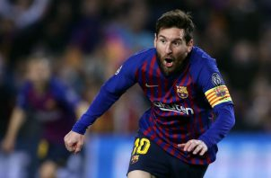 Leo Messi marcó doblete. Foto AP