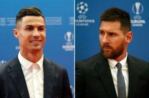Cristiano Ronaldo y Messi coincidieron durante la gala de la Uefa.
