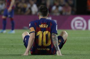 Esta sería la segunda lesión de Leo Messi en la temporada. Foto AP