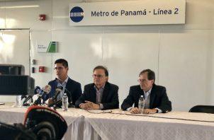 La conferencia de prensa la dirigió el presidente del Metro de Panamá, Roberto Roy.