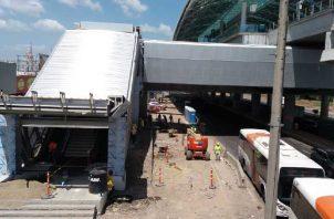 La estación de Los Pueblos aún necesita trabajos para que esté totalmente habilitada y segura para los usuarios. Foto: Yaissel Urieta