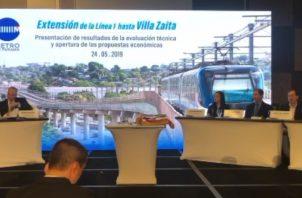 El Consorcio Línea Panamá  Norte conformado por las empresas OHL- Mota-Engil obtuvo el mayor puntaje en la licitación .