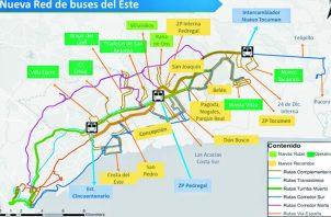 Las nuevas rutas del Metrobús surgen tras el inicio de funcionamiento de la Línea 2 del Metro de Panamá.
