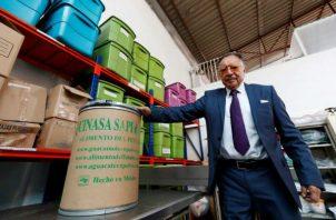 El director de la empresa mexicana Quinasa, Dimas Jiménez, posa durante una entrevista en Ciudad de México.