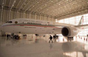 La costosa aeronave fue adquirida durante la presidencia de Felipe Calderón. FOTO/EFE