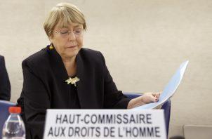 Alta Comisionada para los Derechos Humanos de Naciones Unidas Michelle Bachelet. AP