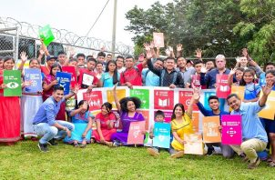 Jóvenes de la comarca Ngäbe Buglé participaron en los talleres de la Red Nacional Juventud ODS (Objetivos de Desarrollo Sostenible). Foto cortesía Mides