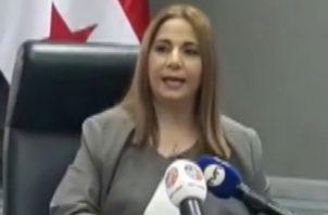 La directora del Serivicio Nacional de Migración, Samira Gozaine, admitió que se trata de su voz, la que se escucha en un audio que circula en las redes sociales.