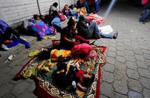 Familias completas han salido de Honduras en busca del denominado sueño americano. FOTO/EFE