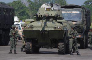 Los militares venezolanos estarán en fase de entrenamiento hasta el próximo 28 de septiembre. FOTO/AP