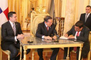 El acto acto se celebró en el Salón Amarillo de la Presidencia de la República.