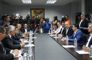 La tercera reunión de transición del nuevo Gobierno se realizó en la sede del Ministerio de Seguridad.