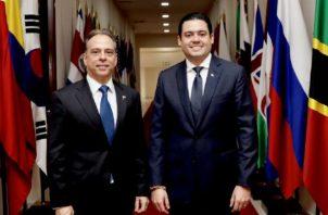 Ministro designado, Alejandro Ferrer, y vicepresidente José Carrizo Foto: José Gabriel Carrizo