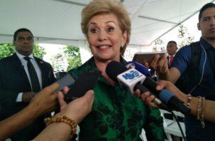 La expresidente Mireya Moscoso aboga por la unidad del Partido Panameñista.