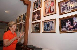 Expresidenta Mireya Moscoso.