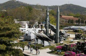 Misiles balísticos tácticos de Corea del Norte Scud-B T . Foto: EFE.