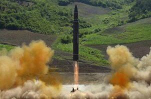 Lanzamiento de misil en Corea del Norte. Foto: Archivo/Ilustrativa.