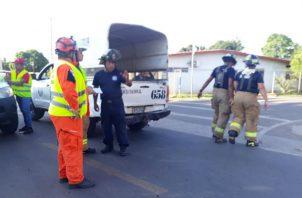 El lugar del incidente se mantiene acordonado y bajo vigilancia. Foto: Thays Domínguez.