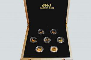Colección de monedas JMJ 2019. Foto: @MEFPANAMA